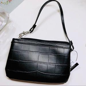 Wilson's Leather CashWrap Wristlet, Black, NWT